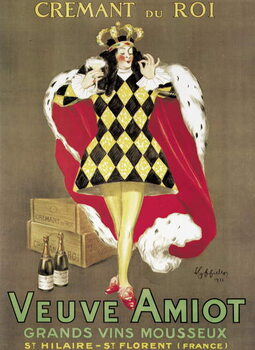 Stampa su Tela Poster advertising 'Veuve Amiot' sparkling wine