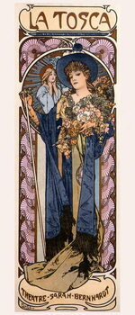 Stampa su Tela Poster for 'Tosca' with Sarah Bernhardt