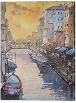 Stampa su Tela Rajan Dey - Venice in Late Afternoon
