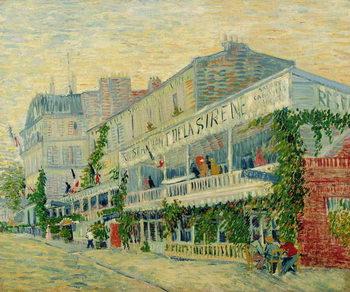 Stampa su Tela Restaurant de la Sirene at Asnieres, 1887