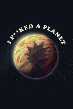 Stampa su Tela Rick & Morty - Planet
