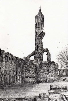 Stampa su Tela Ruin at St.Andrews, 2006,
