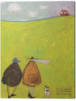 Stampa su Tela Sam Toft - Little Red Caravan on the Hill