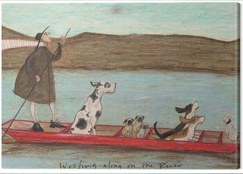 Stampa su Tela Sam Toft - Woofing Along on the Rinver