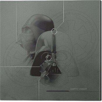 Stampa su Tela Star Wars - Darth Vader Diagram