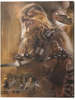 Stampa su Tela Star Wars Episode VII - Chewbacca Art