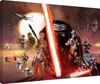 Stampa su Tela Star Wars, Episodio VII : Il risveglio della Forza - Galaxy