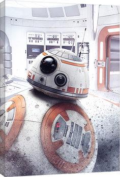 Stampa su Tela Star Wars: Gli ultimi Jedi- BB-8 Peek
