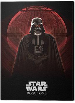 Stampa su Tela Star Wars: Rogue One - Darth Vader & Death Star