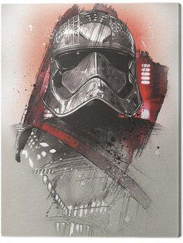 Stampa su Tela Star Wars The Last Jedi - Captain Phasma Brushstroke