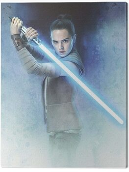 Stampa su Tela Star Wars The Last Jedi - Rey Lightsaber Guard