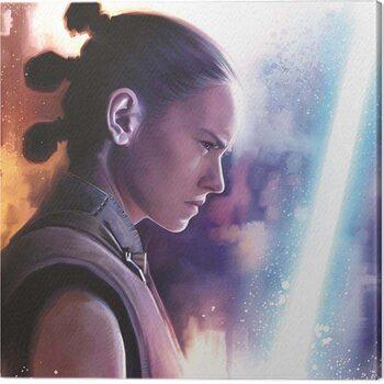 Stampa su Tela Star Wars The Last Jedi - Rey Lightsaber Paint
