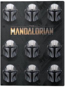 Stampa su Tela Star Wars: The Mandalorian - Helmets