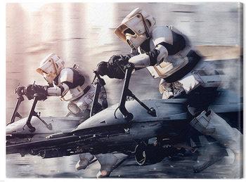 Stampa su Tela Star Wars: The Mandalorian - Troopers