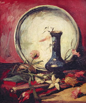 Stampa su Tela Still Life with Flowers, c.1886