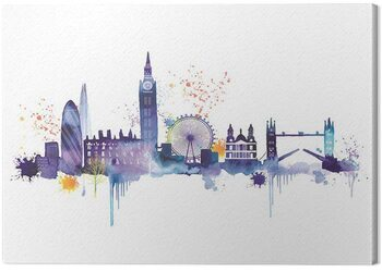 Stampa su Tela Summer Thornton - London Skyline