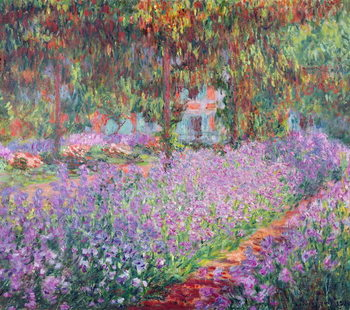 Stampa su Tela The Artist's Garden at Giverny, 1900