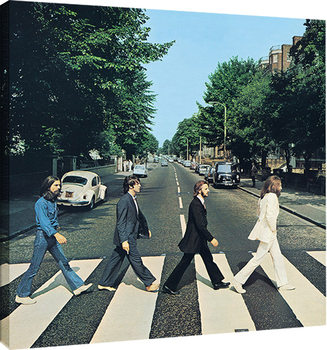 Stampa su Tela The Beatles - Abbey Road