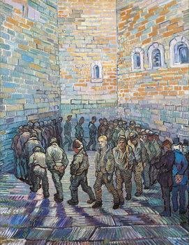 Stampa su Tela The Exercise Yard, or The Convict Prison, 1890