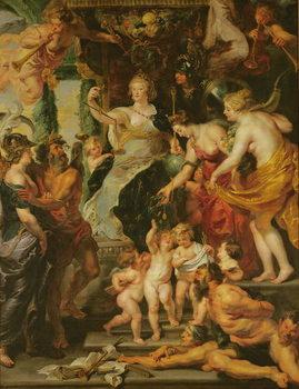 Stampa su Tela The Felicity of the Regency, 1621-25