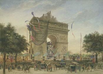 Stampa su Tela The Funeral of Victor Hugo (1802-85) 1885