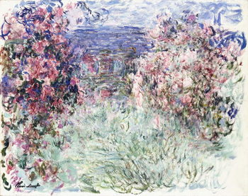 Stampa su Tela The House among the Roses, 1925