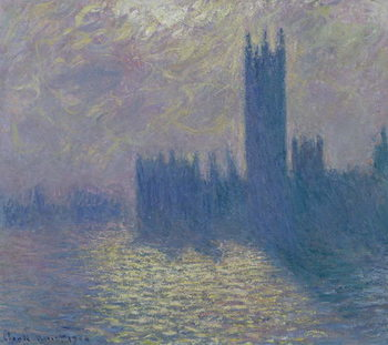 Stampa su Tela The Houses of Parliament, Stormy Sky, 1904