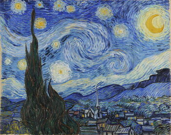 Stampa su Tela The Starry Night, June 1889 (oil on canvas)
