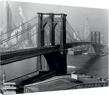 Stampa su Tela Time Life - Brooklyn Bridge, New York 1946