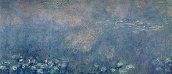Stampa su Tela Waterlilies: Two Weeping Willows, centre left section, c.1915-26 (oil on canvas)