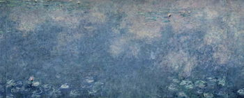 Stampa su Tela Waterlilies: Two Weeping Willows, centre right section, c.1915-26 (oil on canvas)