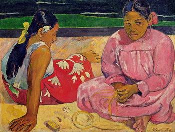 Stampa su Tela Women of Tahiti, On the Beach, 1891