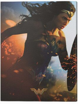 Stampa su Tela Wonder Woman - Courage