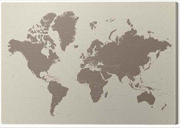 Stampa su Tela World Map - Contemporary Stone