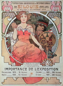 Stampa su Tela A Poster for the World Fair, St. Louis, United States, 1904