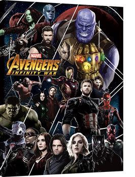 Stampa su Tela Avengers Infinity War - Heroes Unite