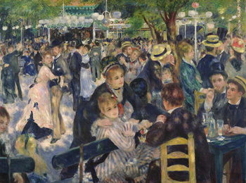 Stampa su Tela Ball at the Moulin de la Galette, 1876