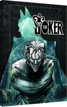 Stampa su Tela Batman - The Joker Insane