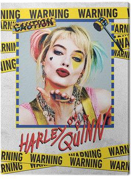 Stampa su Tela Birds Of Prey: e la fantasmagorica rinascita di Harley Quinn - Harley Quinn Warning