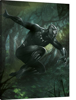Stampa su Tela  Black Panther - Forest Chase