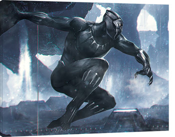 Stampa su Tela  Black Panther - To Action