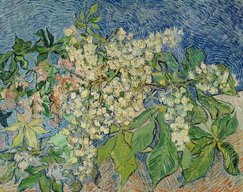 Stampa su Tela Blossoming Chestnut Branches, 1890