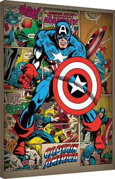 Stampa su Tela Captain America - Retro