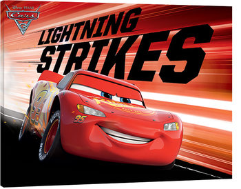 Stampa su Tela  Cars 3 - Lightning Strikes