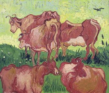 Stampa su Tela Cows, 1890