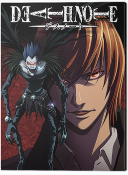 Stampa su Tela Death Note - Light and Ryuk
