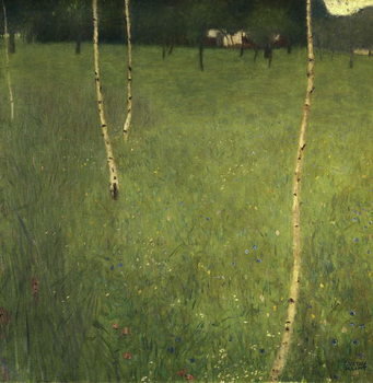 Stampa su Tela  Farmhouse with Birch Trees, 1900