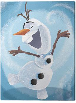Stampa su Tela Frozen: Il regno di ghiaccio - Olaf Dance