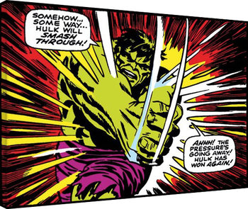 Stampa su Tela  Hulk - Smash Through