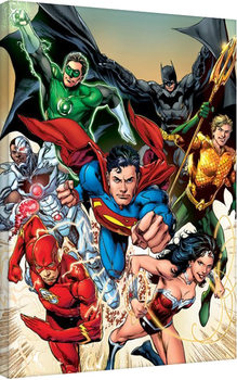 Stampa su Tela Justice League - Attack